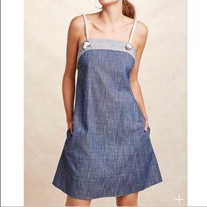 Anthropologie AMADI Chambray Mini Dress